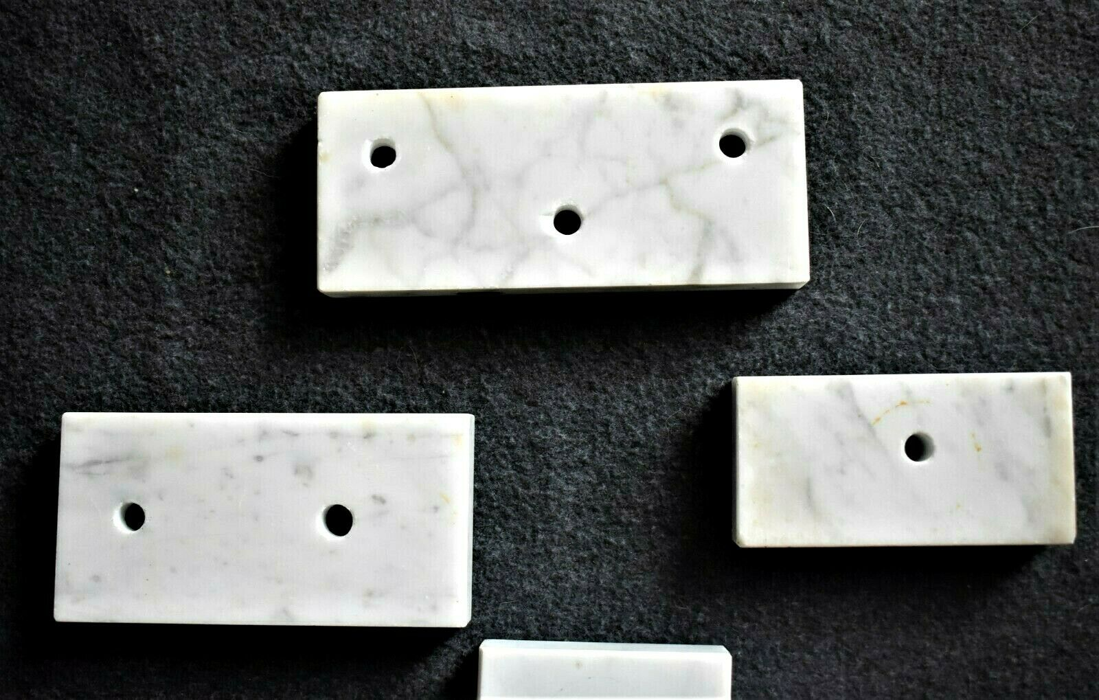 7 Piece Lot Of Vintage Trophy Marble Bases Various Sizes - $22.75