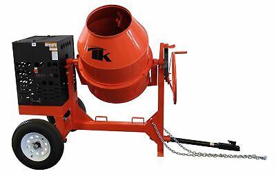 12 Cu Ft.0 Towable Steel Drum Concrete Cement Mortar Plaster Mixer W 2 Hp