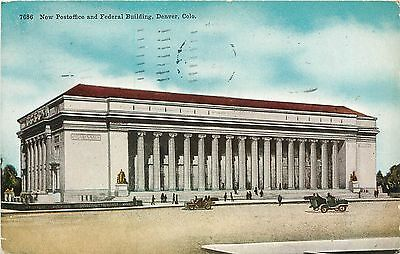 Denver  Colorado  Co  New Post Office   Federal Building  1912 Postcard Pc A1140