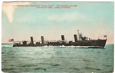 "TORPEDO BOAT DESTROYER USS ""PAUL JONES"" (DD-10) Navy Postcard Edward Mitchell  for sale  Bowling Green"