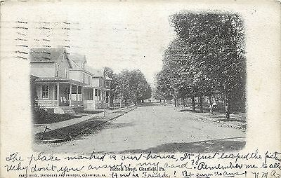 1901 1907 Printed Postcard  View Of Nichols Street  Clearfield Pa  Posted
