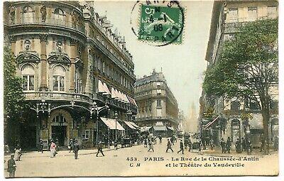 CPA - Carte Postale - France - Paris - La Rue de la Chaussée d'Antin - 1908 (I96