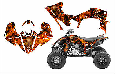 2014 - 2019 Yamaha YFZ450R 450SE graphics custom wrap kit Zombie Skull