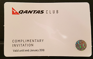 QANTAS Club complimentary visit - Valid till January 2018 Curtin Woden Valley Preview