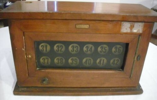 ANTIQUE WESTERN ELECTRIC HOTEL OFFICE ANNUNCIATOR PANEL BOX
