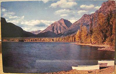 Montana Postcard LAKE MCDONALD Boats Shore Cooper Glacier National Park Chrome