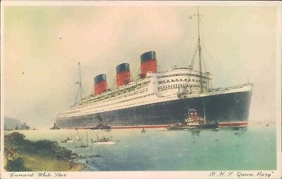 Postcard Shipping liner Cunard R.M.S Queen Mary unposted