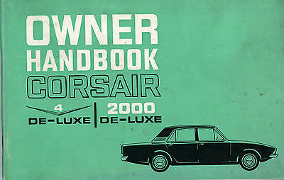 Ford CORSAIR 2000 DE-LUXE Owner Handbook
