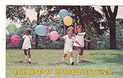 Happy Birthday Scriptures (*Postcard-