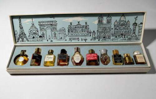 Miniature Commercial Perfume Bottles Set in Box Les Parfums de Paris