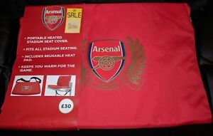 OFFICIAL ARSENAL PORTABLE HEATED STADIUM SEAT COVER BRAND NEW