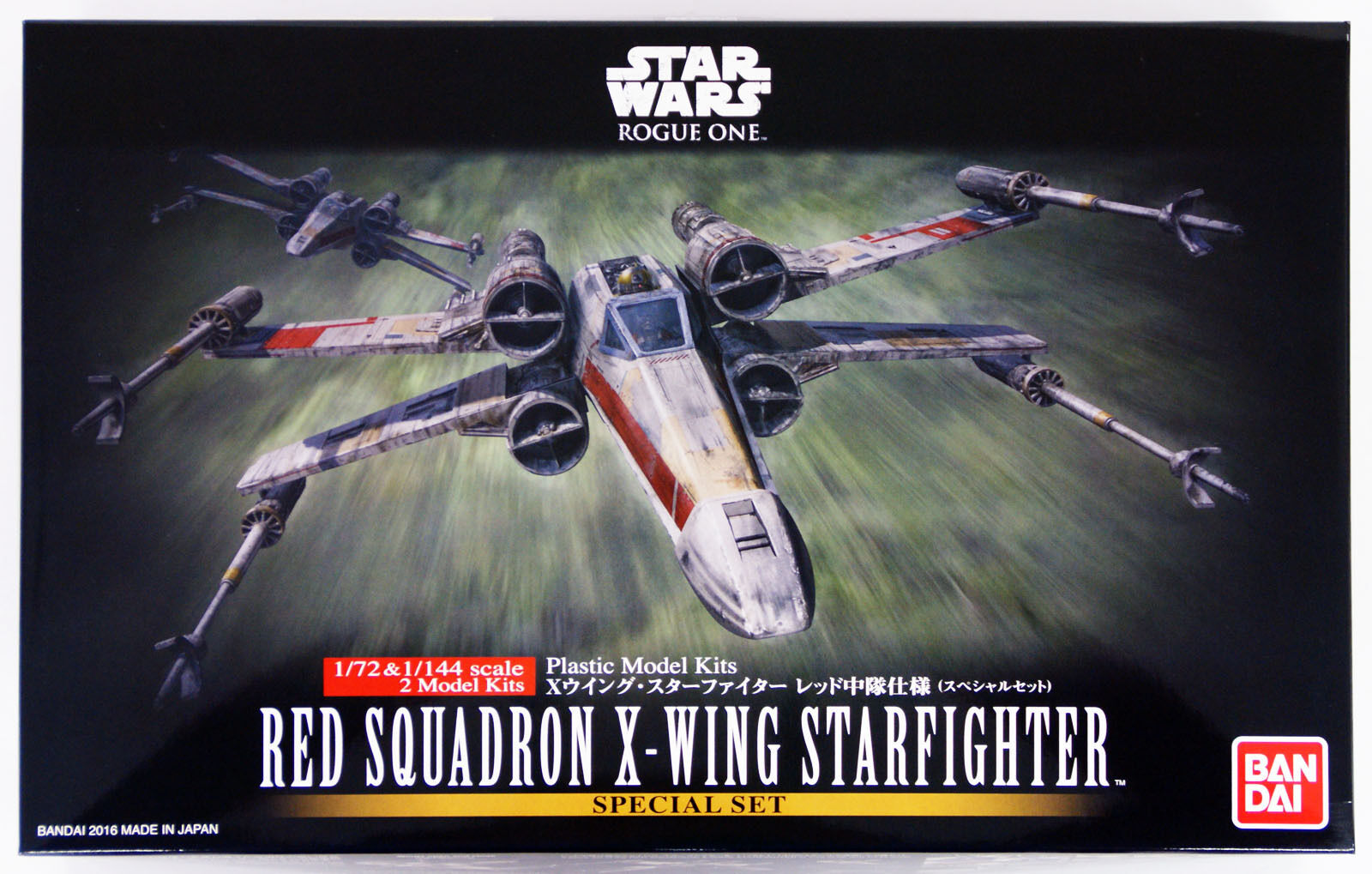 Bandai Star Wars Red Squadron X-Wing Star Fighter 1/72 & 1/144 2 Models 105220