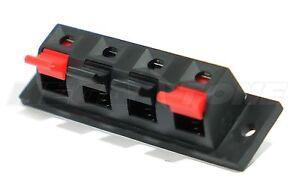 NEW 4 Position Push/Release Spring Loaded Audio Jack Speaker Terminal USA SELLER