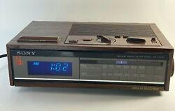 Vintage Sony AM/FM Digital Clock Radio ICF-C70W Dream Machine Retro 80's Tested