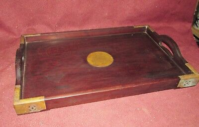 Old or Antique Chinese Hardwood Tray