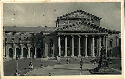 München Postkarte Stempel 1929 Partie am Nationaltheater und Residenz Theater