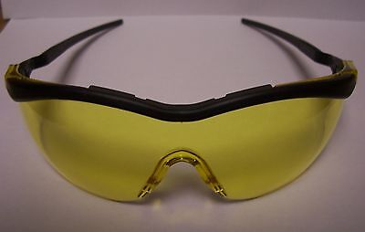 box of 6 pair A-SAFE safety glasses T5600-5BA NEW protective eyewear-amber lens