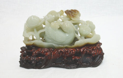 Well  Hand  Carved  Chinese  Jade ( He-Tian )  Table  Ornament