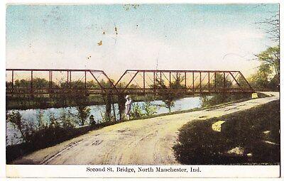 1909 SECOND ST. BRIDGE POSTCARD: TERRE HAUTE INDIANA