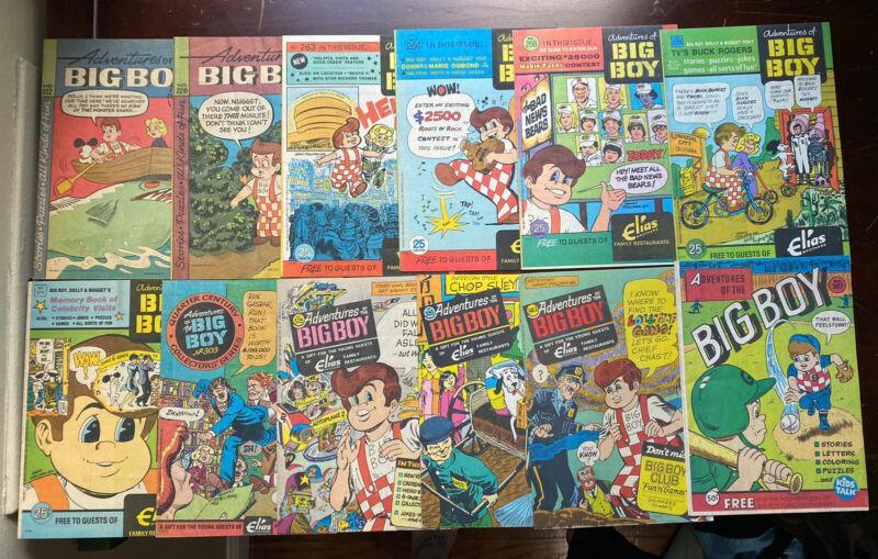 Lot of 12 Vintage Adventures of The Big Boy Comics 222 226 263 264 268 270 &MORE