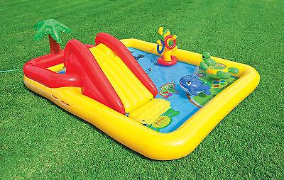 Intex Ocean Play Center Baby Kids Inflatable Wading Splash Pool 57454EP
