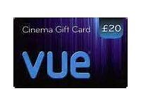 £20 vue cinema gift card