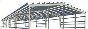 Used steel building ebay for Pre engineered house plans