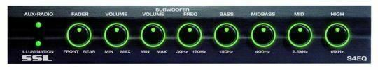 SSL-S4EQ SSL 4 Band Graphic Equalizer with Subwoofer Output