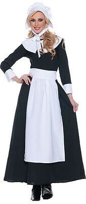 PILGRIM COSTUME COLONIAL PRAIRIE PURITAN PIONEER AMISH BLACK WOMAN ADULT BONNET