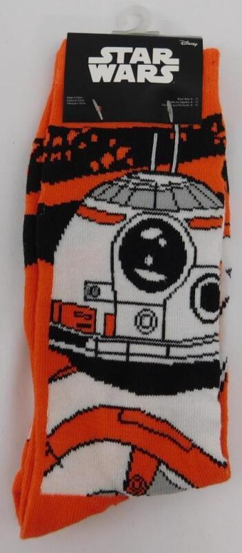 Loot Crate Exclusive Star Wars BB-8 Droid Orange Mens Crew Socks New Lootcrate