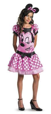 Mädchen Kind Disney Mickey Club Rosa Minnie Mauskostüm
