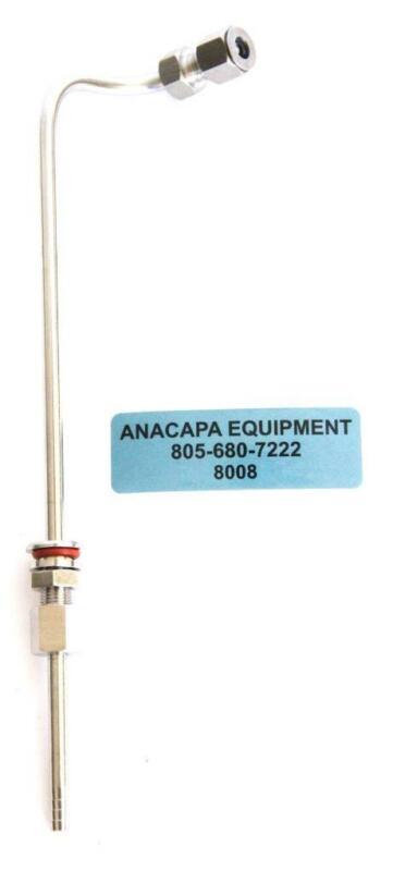 Applikon Broadley-James L Shaped Sparger Tube For Bioreactor (8008)W