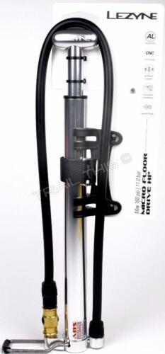Lezyne Micro Floor Drive HP Hand Pump Silver / Hi Gloss One