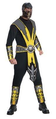 Herren Erwachsene Mortal Kombat Skorpion Ninja Kämpfer Kostüm - Herren Mortal Kombat Kostüm