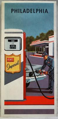 ATLANTIC OIL SERVICE STATION PHILADELPHIA PENNSYLVANIA CITY STREET ROAD MAP 1961