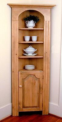 Pine Kitchen Corner Cupboard,  Hand Made in USA