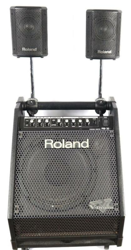 Roland PM-30 V-Drums Personal Monitor Amplifier Amp Cabinet with Satellites