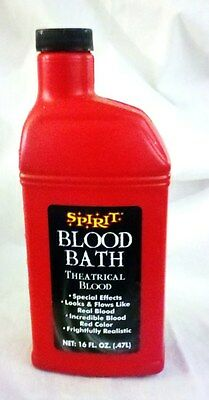 16oz Bottle of Blood - Realistic Theatrical Fake Stage Blood, Halloween Makeup - Apply Halloween Makeup