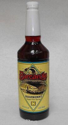 Gourmet Sugar-free Raspberry Syrup 32oz. Barcarola Coffee Drink Italian Flavor