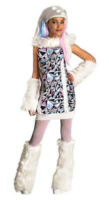 Monster High Kinderkostüm Abbey Bominable Kostüm Perücke Karneval Fasching , - Monster High Abbey Bominable Kinder Kostüm