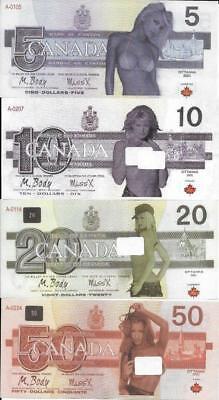 2017 SET - Canada FANTASY GIRL SEXY Notes * $5, $10, $20 and $50 Set - POLYMER