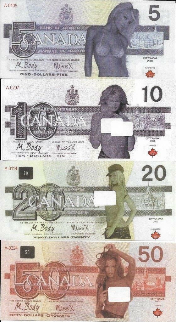 Dicks one canada paper money topless girl fingers guys ass