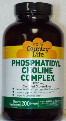 Country Life Phosphatidyl Choline Complex 1200 mg Diet Supplement - 200 Softgels