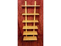 6 Tier Solid Pine Shelving