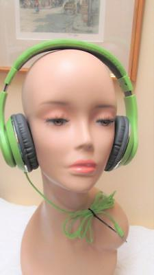 New Ausdom Over-Ear Wired HiFi Stereo Headphones Bright Green