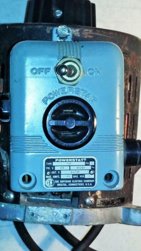 SUPERIOR ELECTRIC POWERSTAT 0.5 Variable Autotransformer Single Phase TESTED