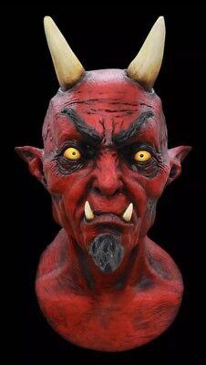 El Diablo Halloween Latex Devil Over The Head Mask - Diablo Halloween