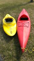 Two kayaks for sale 600 obo for both!