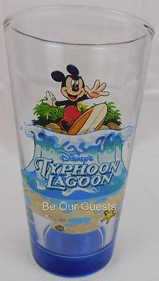 Disney Parks Cars Typhoon Lagoon Water Park Glass Cup New Lagoon Water Park