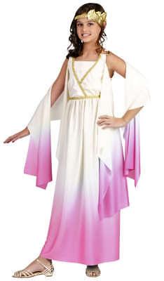Mädchen Kind Griechische oder Römische Göttin Athene Pink & Beige Abendkleid